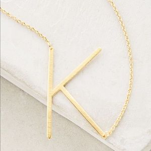 ANTHROPOLOGIE LETTER K NECKLACE